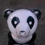 fiberglass hydraulic smiling panda bear