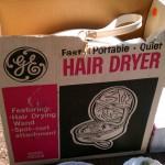 mod retro ge hairdryer in box