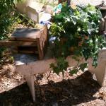 old primitive garden bench
