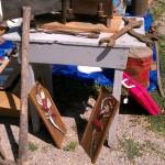 old primitive grey table tools plaques