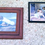 vintage framed prints dogs and children