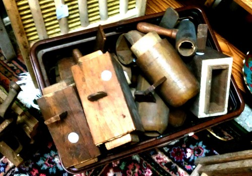 antique wooden pieces from an organ