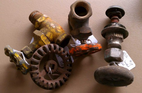 vintage outdoor faucet handles