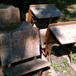 farm fresh dirty antique school desks