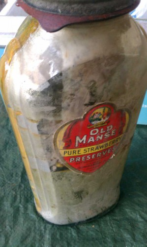 old manse jar bottle before