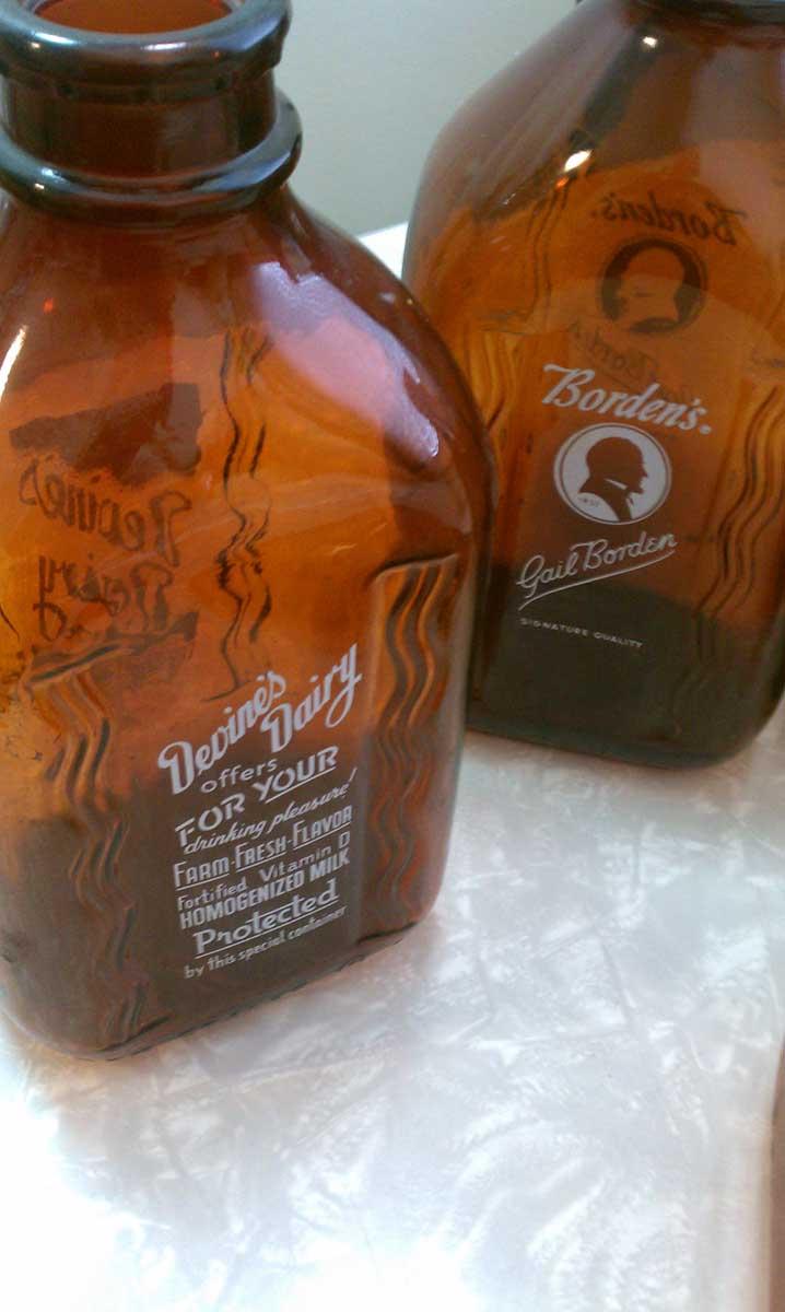 How Now, Old Brown Milk Bottles