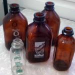 vintage glass milk bottles advertisng collectibles