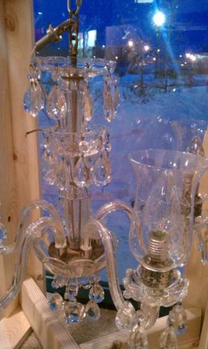 all glass chandelier