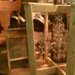antique venetian glass chandelier in crate fargo antiques on broadway