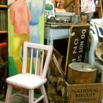 fair oaks antiques pink chair nabisco crate