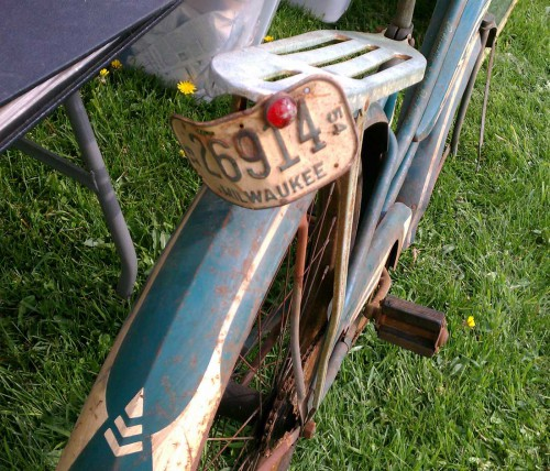 vintage 1954 milwaukee bike lic plate