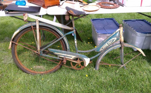 vintage blue columbia bike