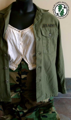 vintage military fatigues fashion