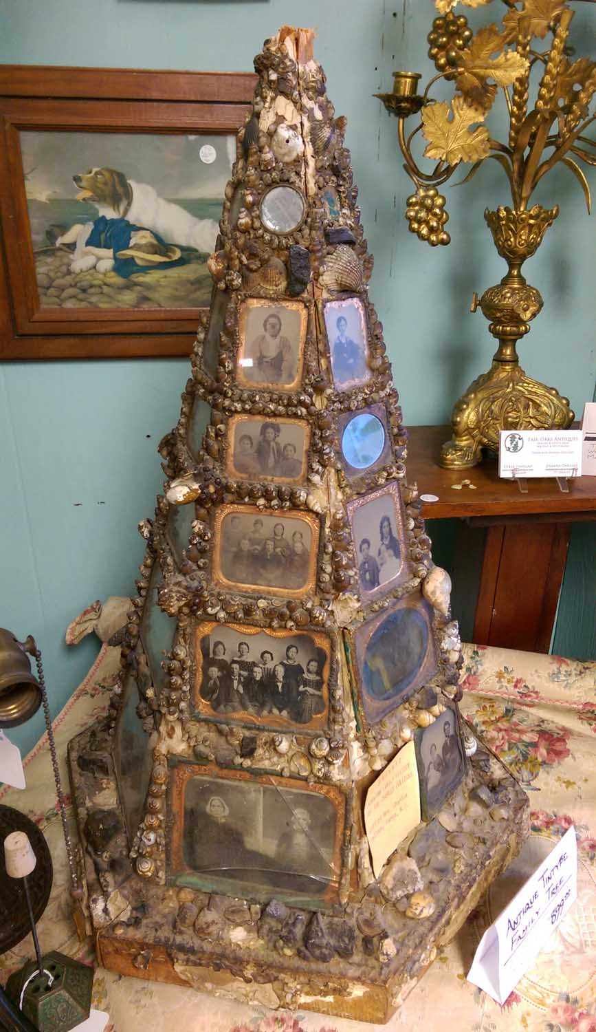 A Rare Antique Folk Art Find: A Family Tree Made Of Tintypes