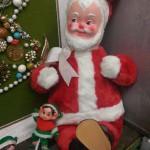 vintage retro masked stuffed santa claus doll