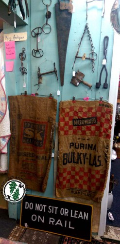 antique feed seed burlap sacks barn finds