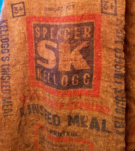 spencer kellogg burlap feed sack