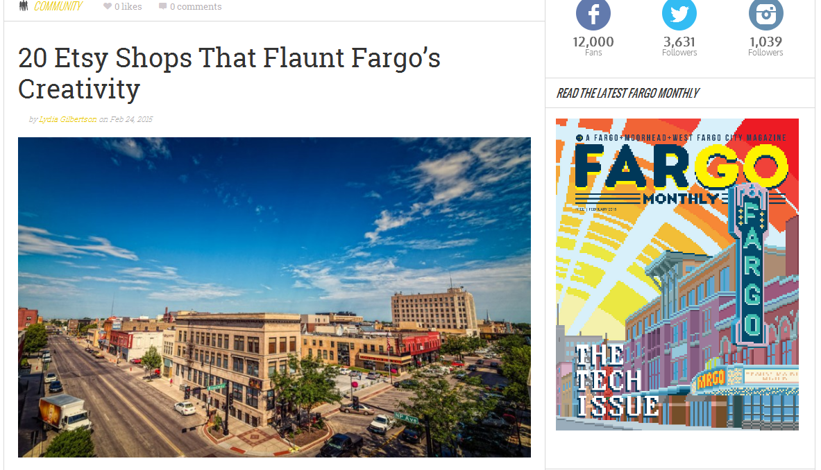 Vintage Creativity Featured In Fargo Monthly