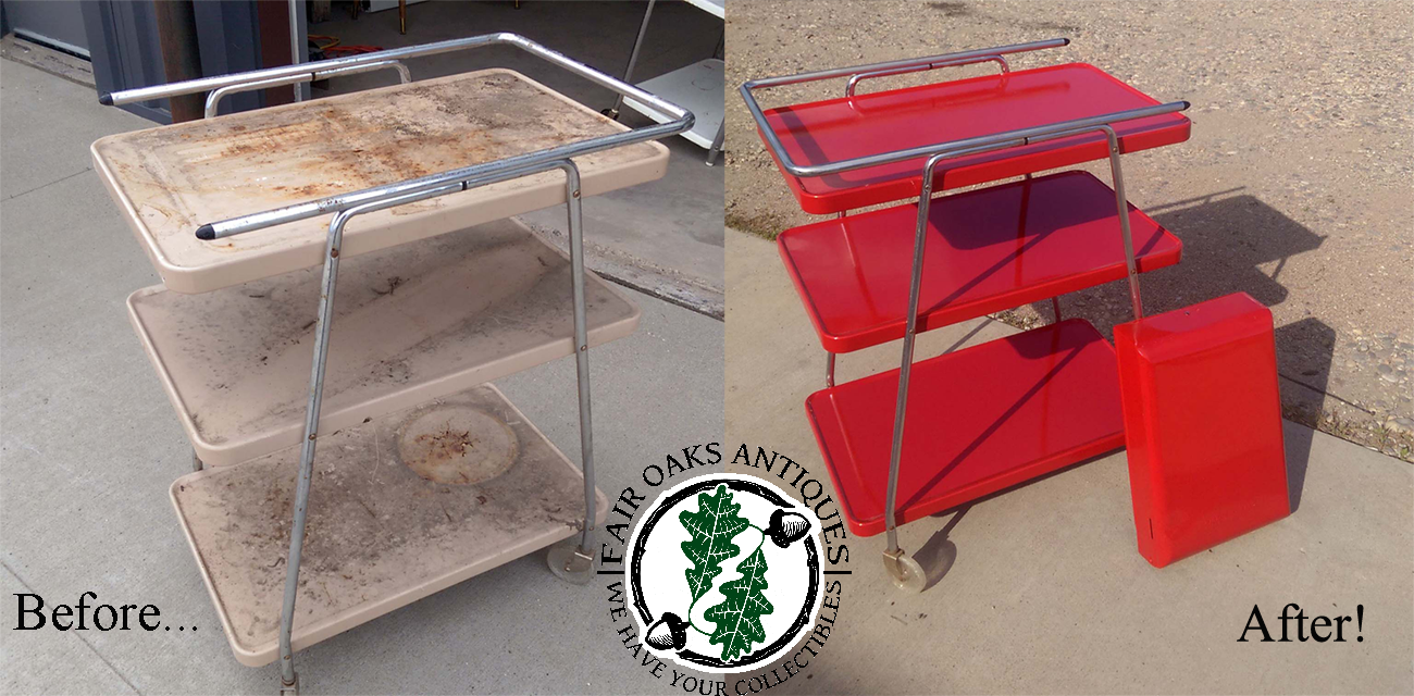 Mid-Century Modern Metal Rolling Cart Revamps