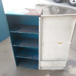 dirty with shelves mancave metal wall cases