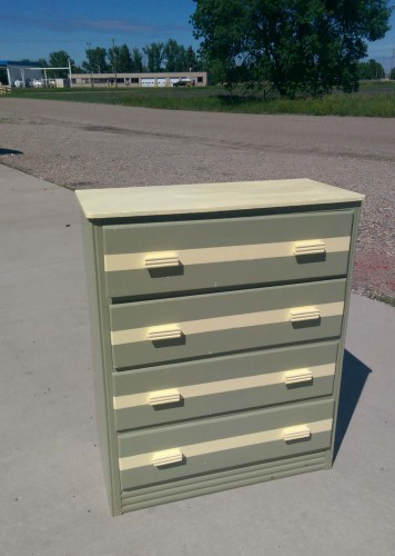 moss green dresser with pale yellow stripes fair oaks antiques