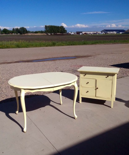 salvaged country primitive furniture creamy butter color