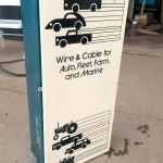 vintage belden auto parts wire metal wall mounted storage box