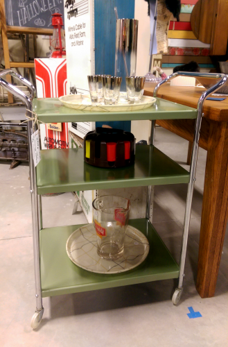 mid-century-modern-three-tier-metal-rolling-car-barcart-with-glasst-barware
