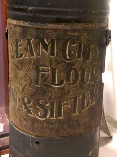 antique-cream-city-flour-bin-and-sifter