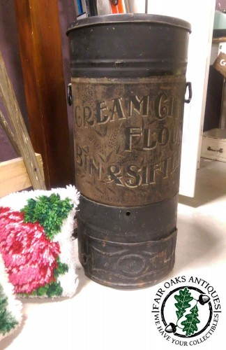 antique-cream-city-flour-sifter-storage-metal-can-tin-vintage-advertising