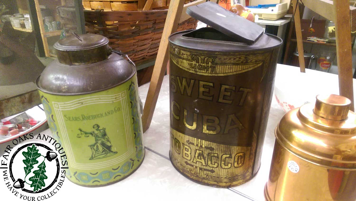 Antique Advertising Tins