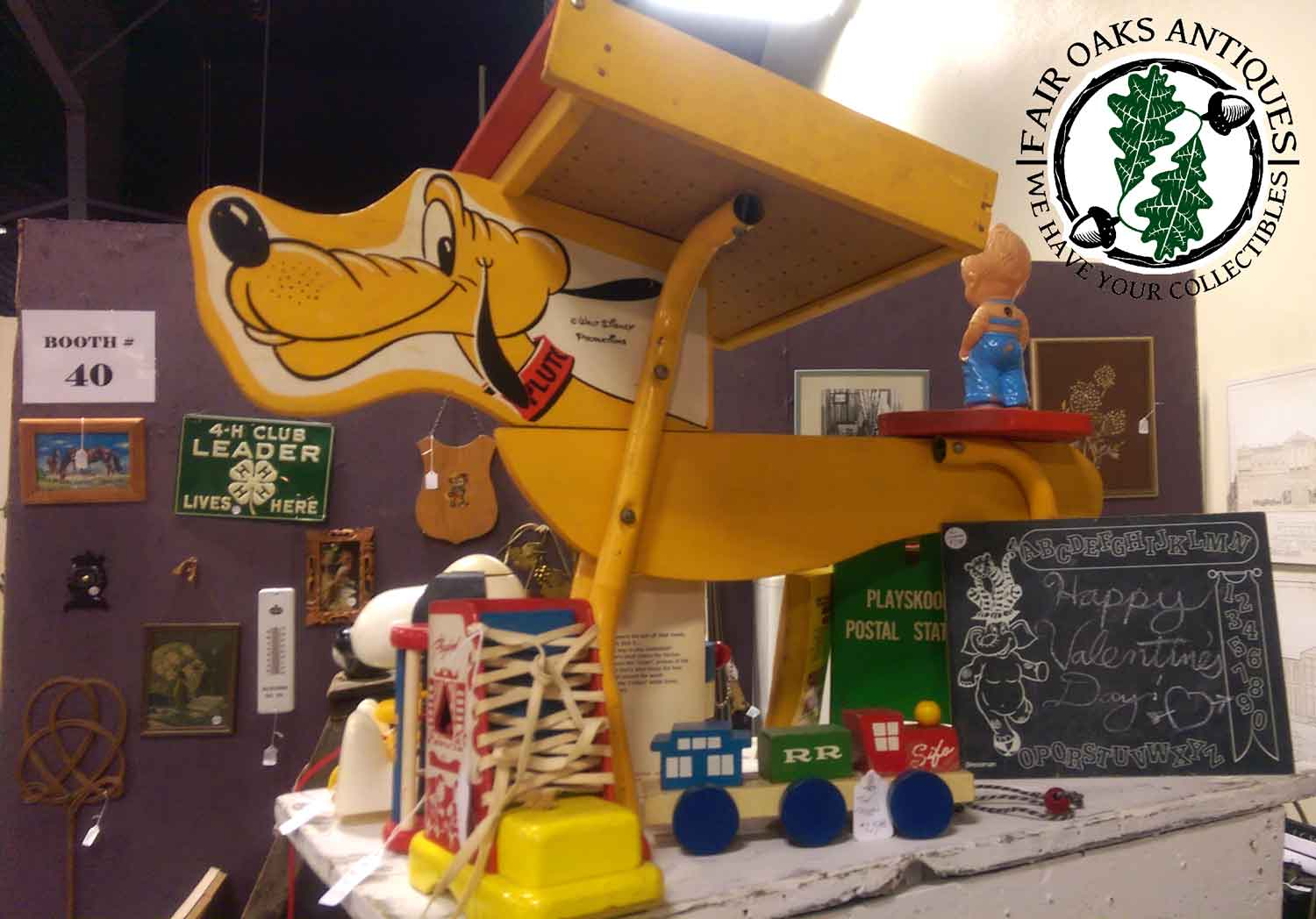 Adorable Vintage Disney Children's Pluto Desk