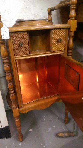 vintage-smoking-stand-copper-lined-humidor