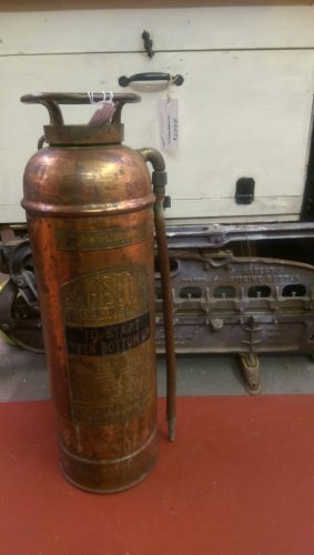 antique Salisbury copper fire extinguisher