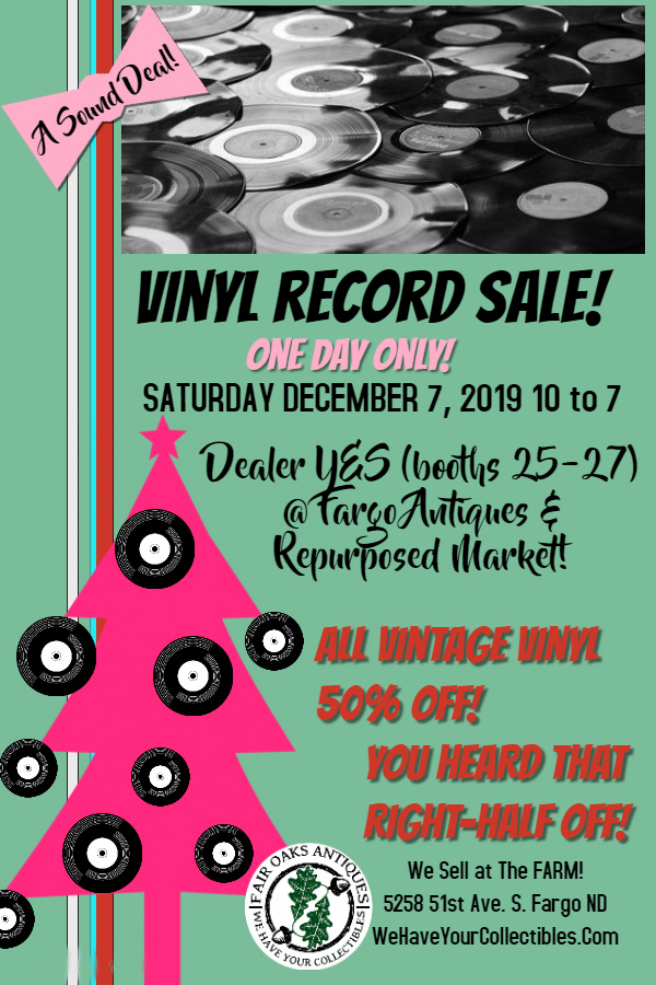 Holiday Record Sale, December 7th!
