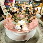 romantic vintage eclectic wedding centerpiece idea fair oaks antiques