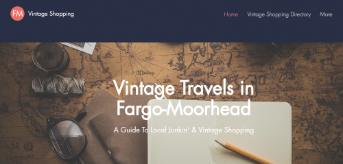 Directory of vintage shopping & junking in Fargo, North Dakota & Moorhead, Minnesota