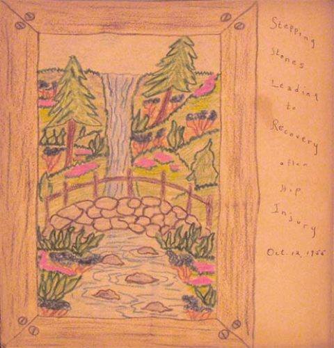 Stepping Stones Leading To Recovery old scrapbook art