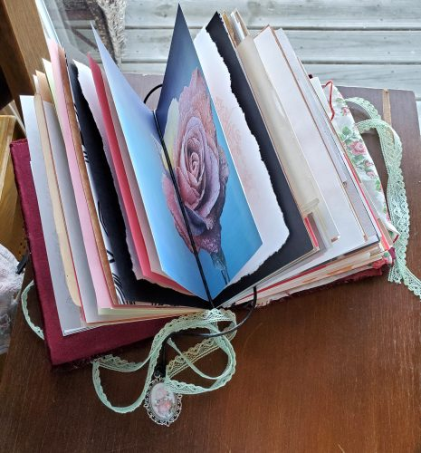 handmade vintage junk journal